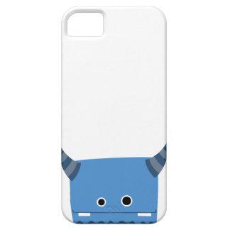 Blue Horned Monster Case iPhone 5 Cases