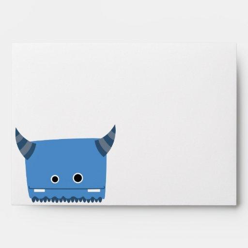 Blue Horned Monster Envelope