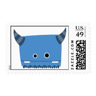 Blue Horned Monster Postage