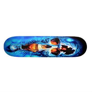Blue Horror Skull Skateboard