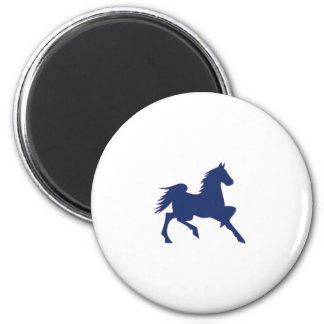 Blue Horse 2 Inch Round Magnet