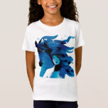 """Blue Horse and a Girl&#160;Girls&#39; Teeshirt T-Shirt<br><div class=""""desc"""">A beautiful image of a Blue Horse and a Girl. Elegant design with beautiful digital and watercolor illustrations by Ulla at mermaid.fi (that's me!). Perfect for all as a birthday gift,  or for anyone who loves nature and horses and life in the wild.</div>"""