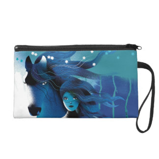 Blue Horse and a Girl Wristlet