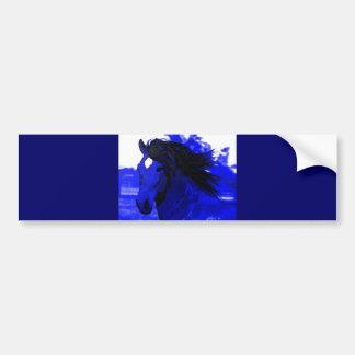 Blue Horse Bumper Sticker