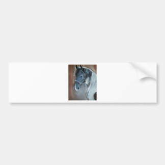 Blue Horse Bumper Sticker