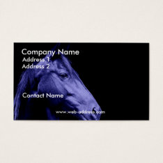 Blue Horse Business Card at Zazzle