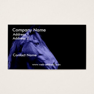 Blue Horse Business Card