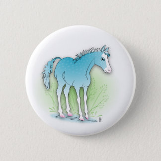 blue horse button