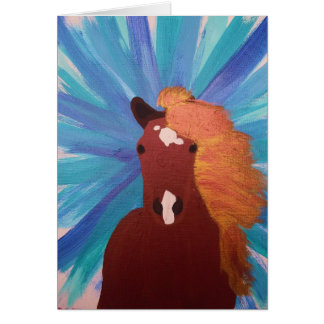 Blue Horse Stationery Note Card