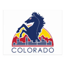Blue Horse Colorado Logo Postcard