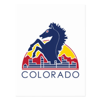 Blue Horse Colorado Logo Postcard