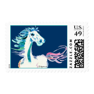 Blue Horse Custom Postage Stamps