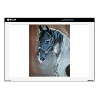 "Blue Horse Decal For 17"" Laptop"