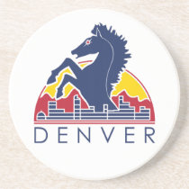 Blue Horse Denver Logo Coaster
