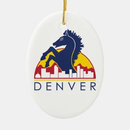 Blue Horse Denver Christmas Ornament