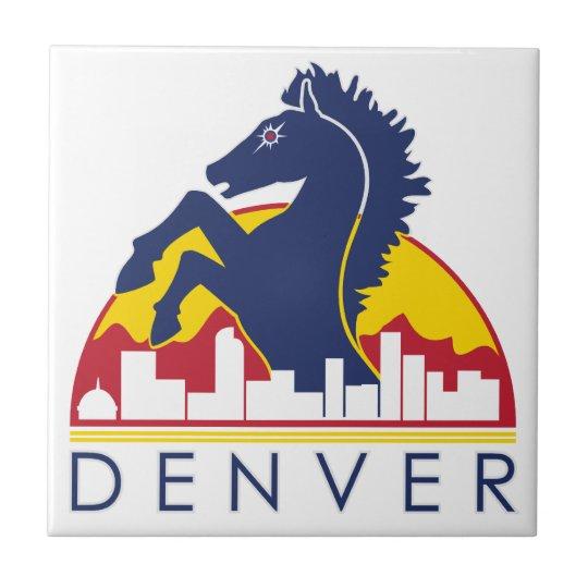 Blue Horse Denver Tile