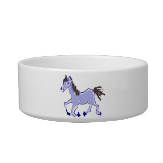 Blue Horse Drawing Bowl