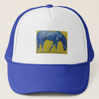 Blue Horse Grazing Cap Hat Baseball Cap