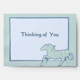 Blue Horse Greeting Card Envelope