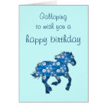 blue horse greeting cards