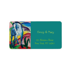 Blue Horse I by Franz Marc Label