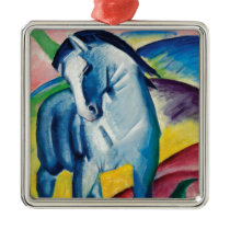 Blue Horse I by Franz Marc Metal Ornament
