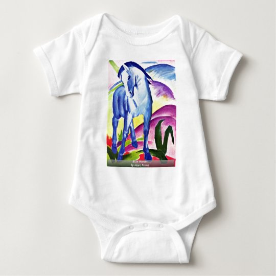 Blue Horse I By Marc Franz Baby Bodysuit