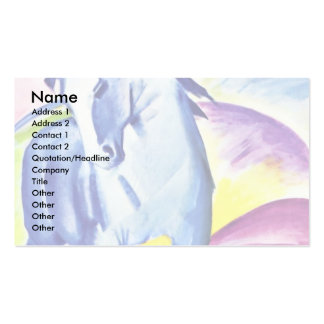 Blue Horse I By Marc Franz Business Card Template