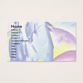 Blue Horse I By Marc Franz Business Card