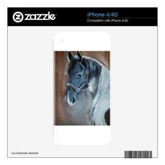 Blue Horse iPhone 4S Decal