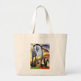 Blue Horse Large Tote Bag