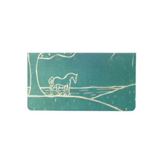 Blue Horse on a Hill Checkbook Cover