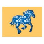 blue horse postcards