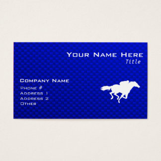 Blue Horse Racing Business Card
