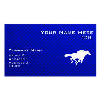 Blue Horse Racing Business Cards