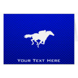 Blue Horse Racing Cards