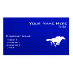 Blue Horse Racing Double-Sided Standard Business Cards (Pack Of 100)