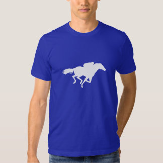 Blue Horse Racing T Shirts