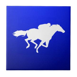 Blue Horse Racing Ceramic Tiles