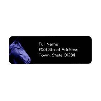Blue Horse Return Address Label