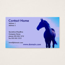 Blue Horse Silhouette Business Card