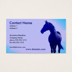 Blue Horse Silhouette Business Card at Zazzle