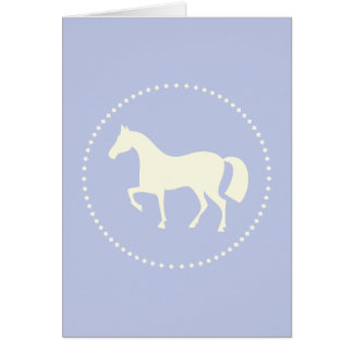 Blue horse silhouette greeting cards (vertical)