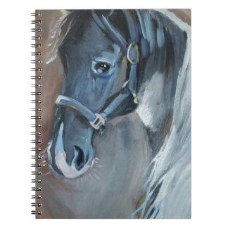 Blue Horse Spiral Notebook