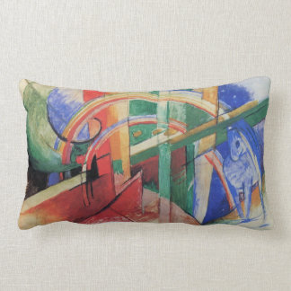 Blue Horse with Rainbow by Franz Marc Pillows