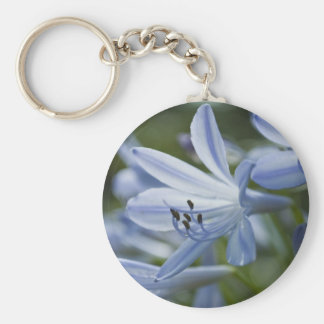 Blue Hosta Keychain