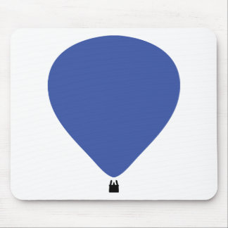blue hot-air balloon icon mouse pad
