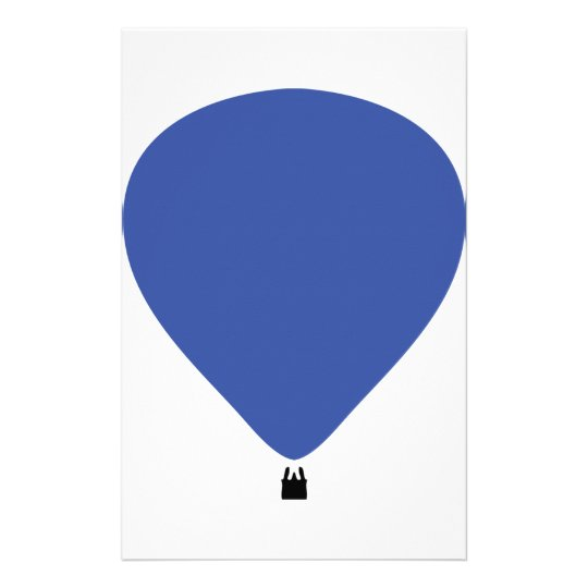 blue hot-air balloon icon stationery