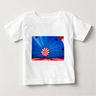 Blue Hot Air Balloon Inflating On The Ground Baby T-Shirt