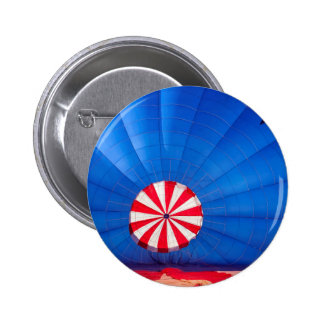 Blue Hot Air Balloon Inflating On The Ground Buttons